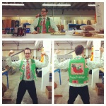 Richard from marketing took the Ugly Christmas sweater idea to heart.
