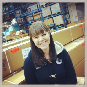 April, our lovely Production Supervisor