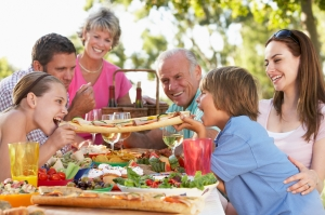 Getting the family together is easy outdoors