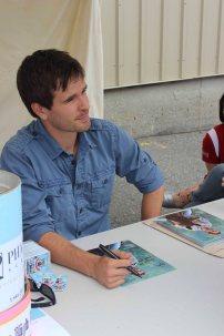 Signing photos