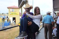 Courtney and JJ the rodeo clown
