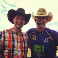 Richard from marketing meeting JJ the rodeo clown