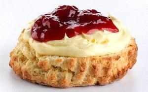 Scones and cream and jam. Probably one of the best taste combinations ever.