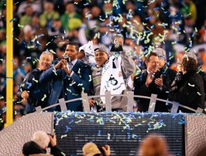 Seattle Seahawks with the Super Bowl! (picture from seahawks.com)