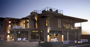 Phantom`s screens are recessed into the building`s structure and do not compromise the home`s contemporary style