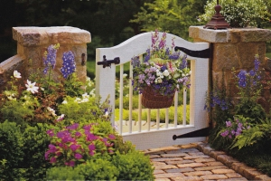 A perfect garden gate - photo credit http://www.artfactory.com/