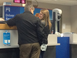 Getting her drivers license